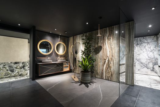 Large Porcelain Slabs - Milan Showroom
