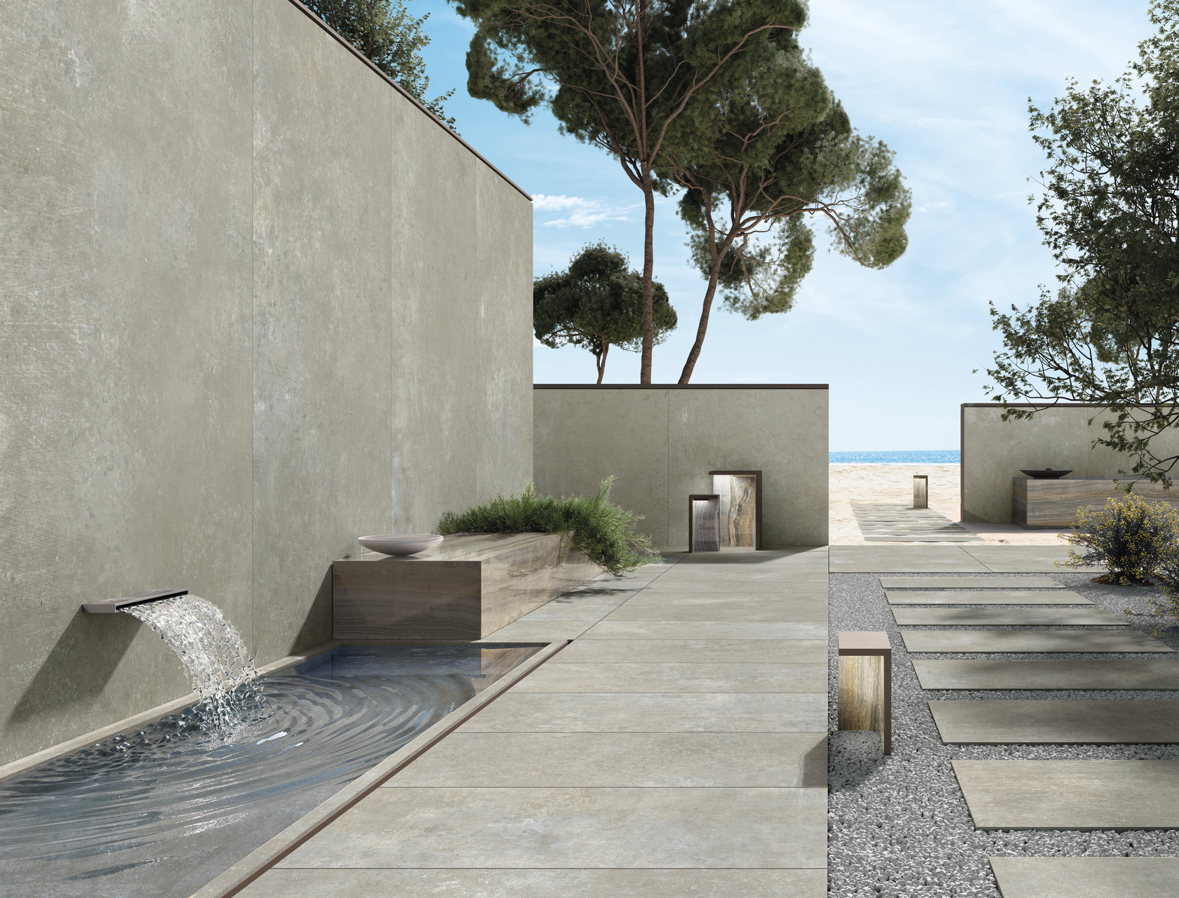 Cement / Resin Effect Porcelain Tiles CM2 Cloud