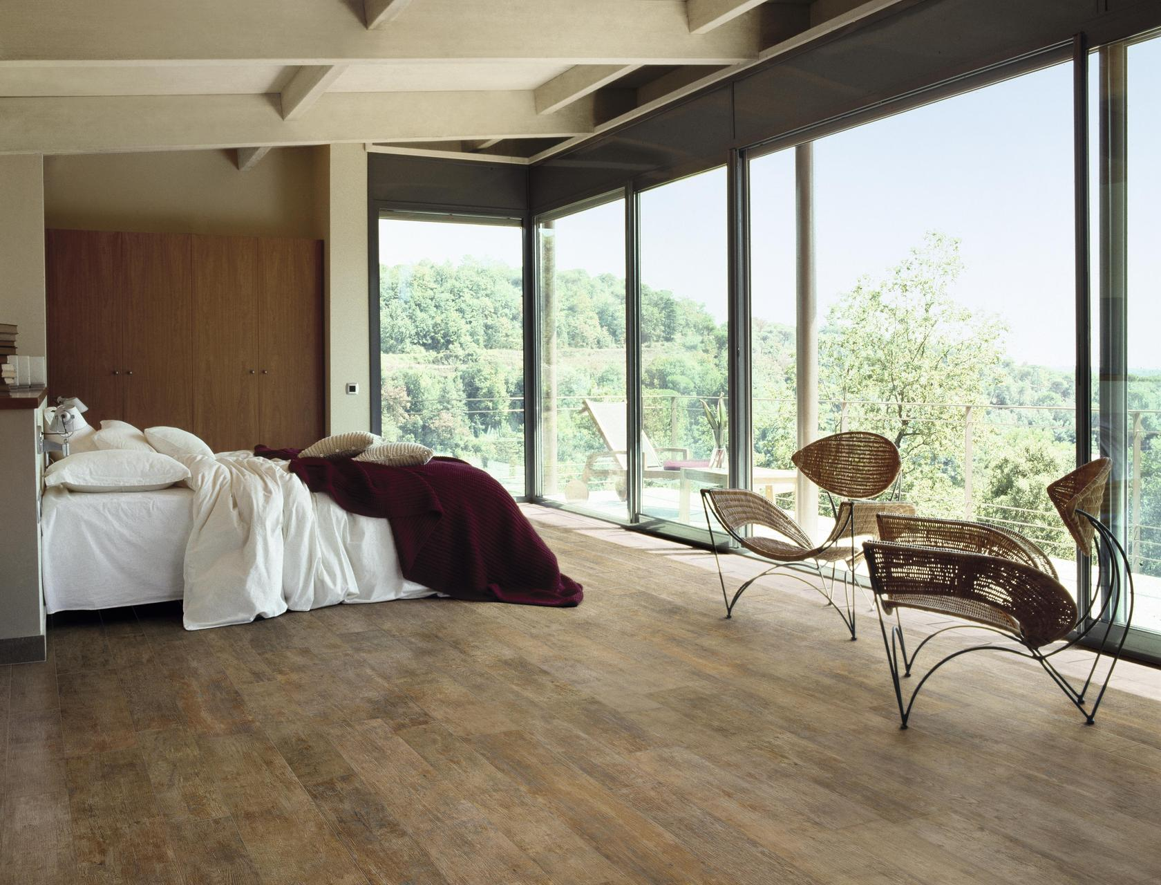 Wood Effect Beige Porcelain Tiles Rovere Impero