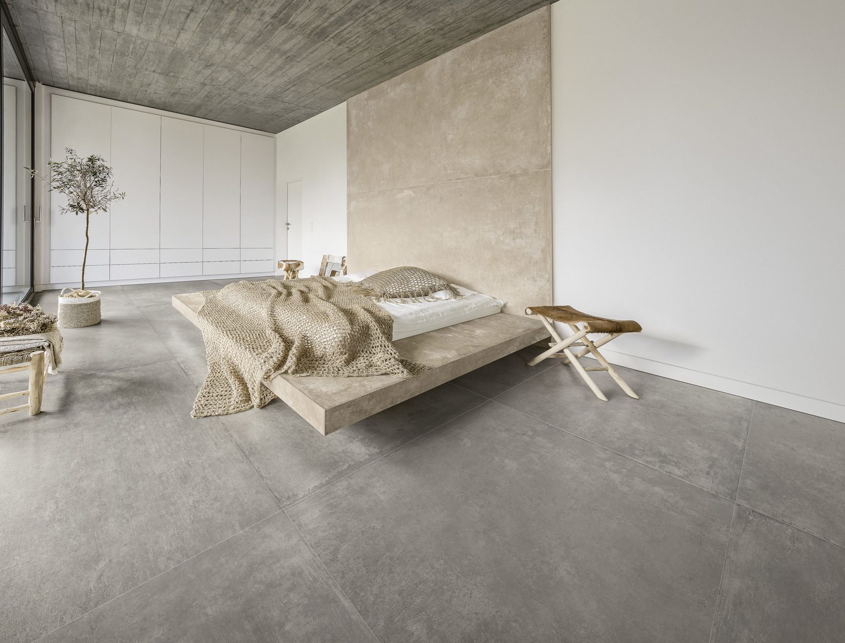 Cement / Resin Effect Porcelain Tiles Earth