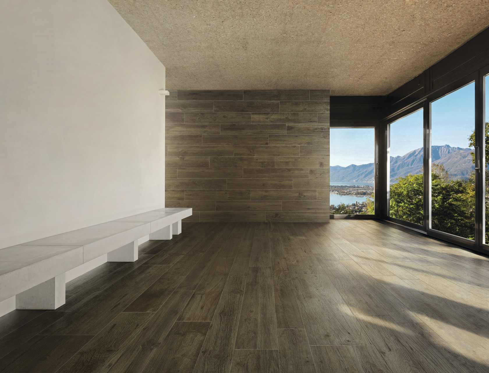 Wood Effect Brown Porcelain Tiles Quercia Canadese