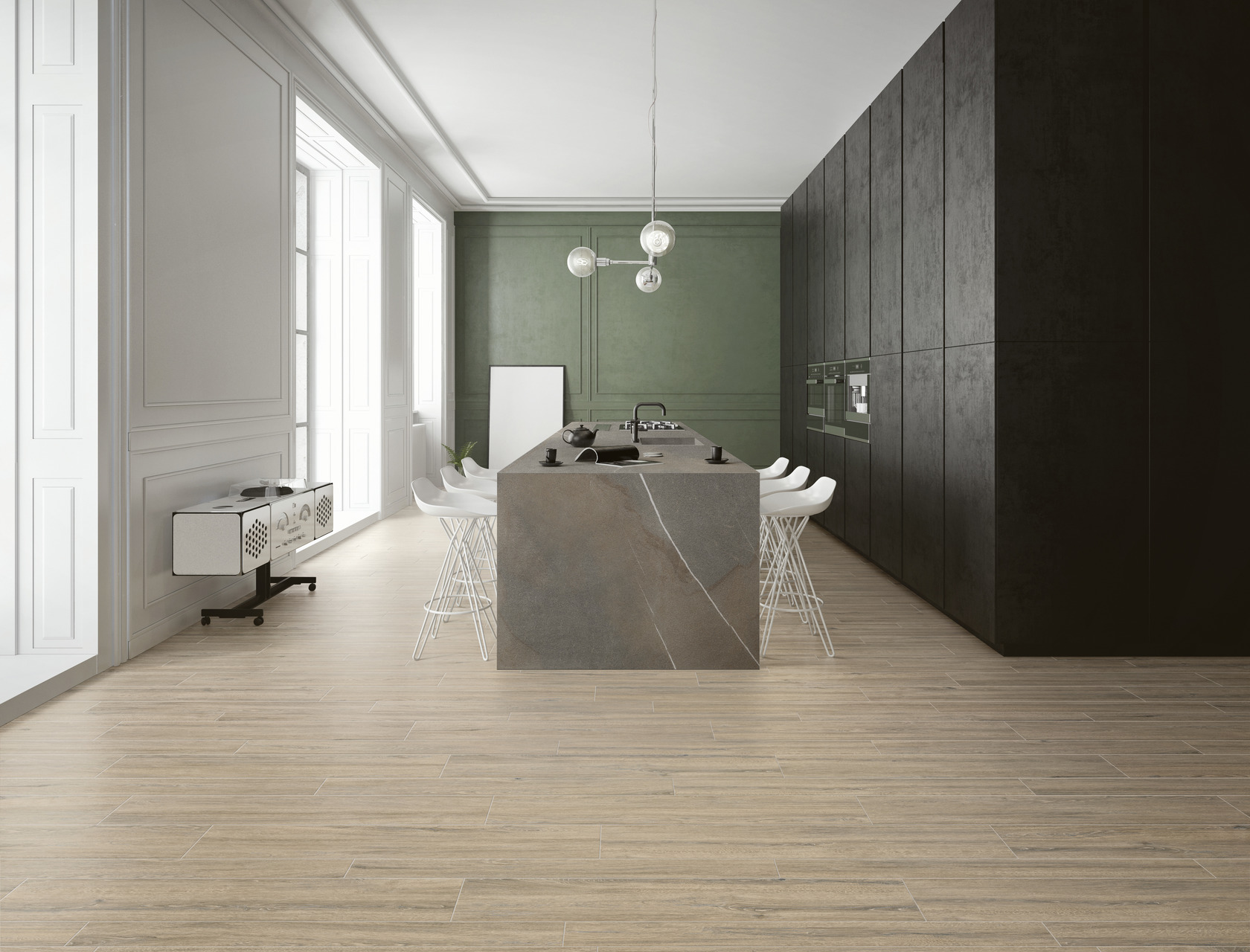 Wood Effect Porcelain Tiles ROVERE BUCKSKIN