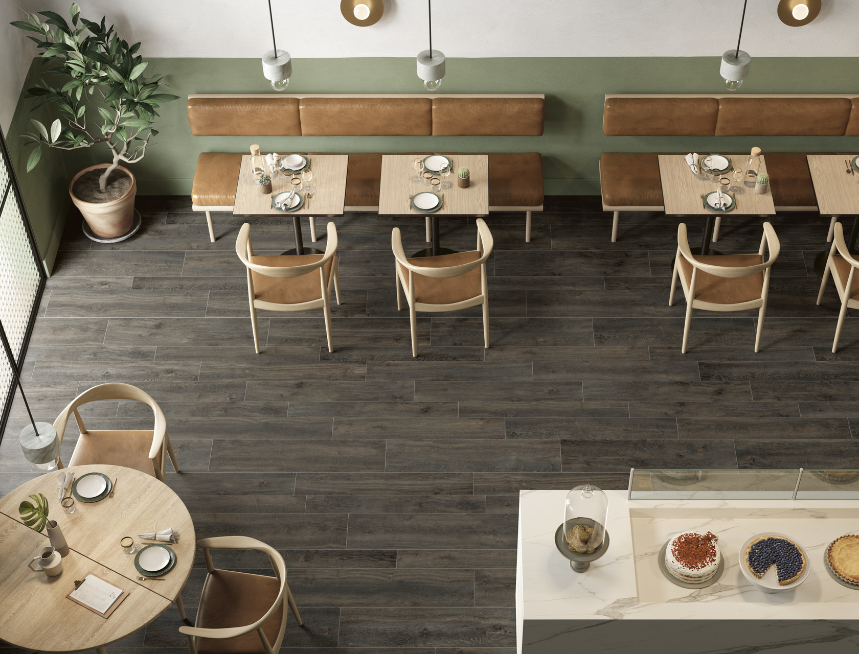 Wood Effect Porcelain Tiles ROVERE CHOCO