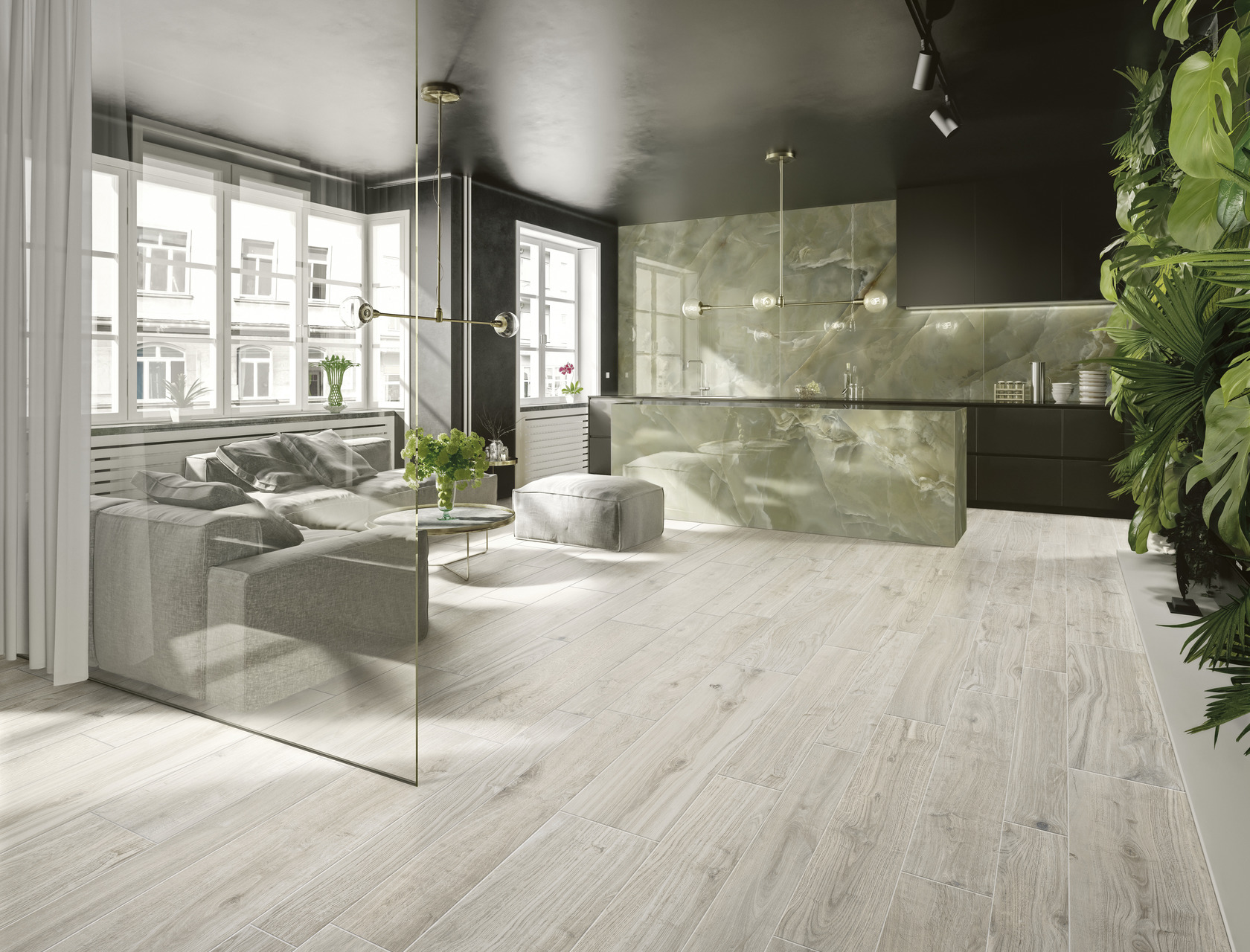 Wood Effect  Porcelain Tiles ROVERE GESSO