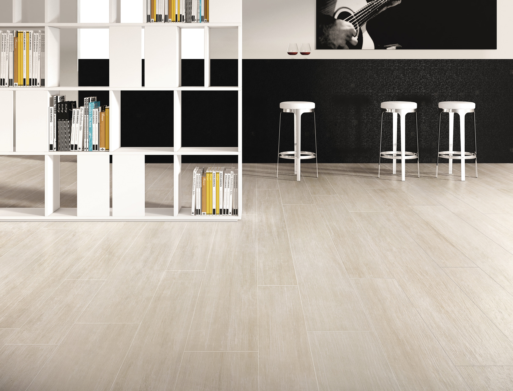 Wood Effect Grey Porcelain Tiles Rovere Sabbia