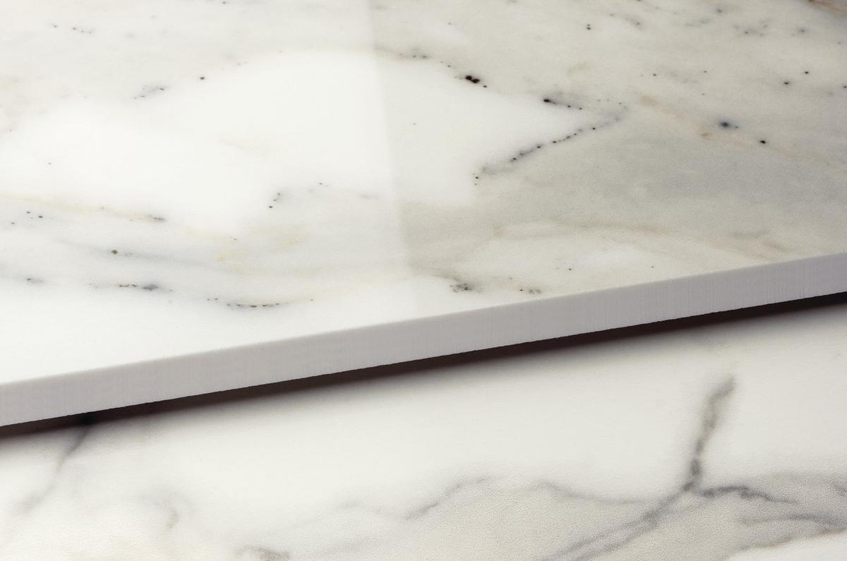 Bianco Calacatta Marmi Classici Marble Effect Floor And