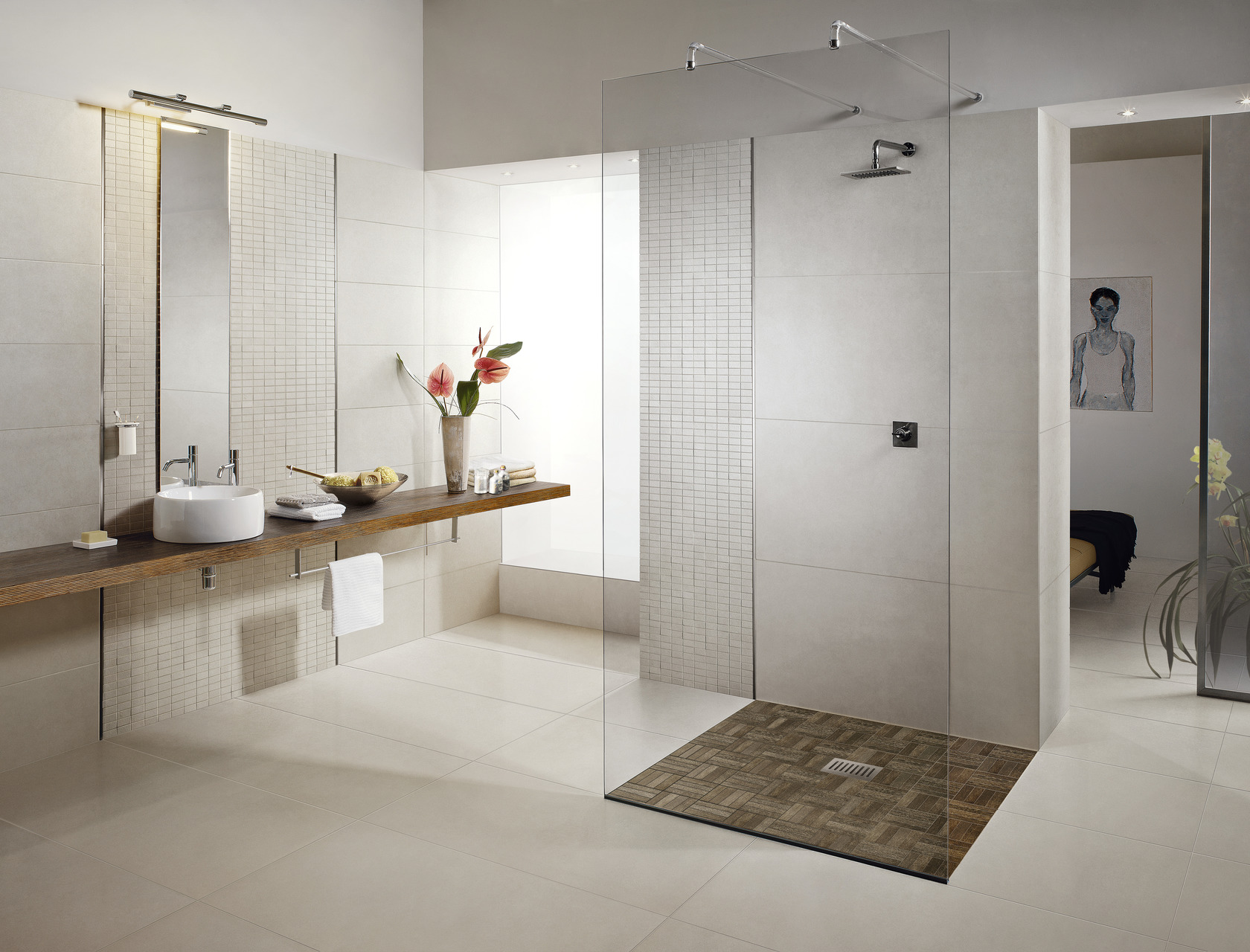 Limra | white stone effect tiles for indoor and outdoor