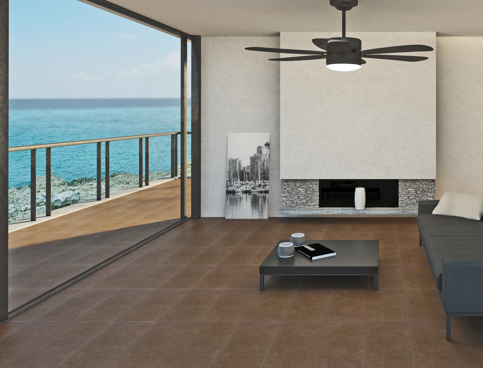 Stone Effect Brown Porcelain Tiles Pietra di Merano