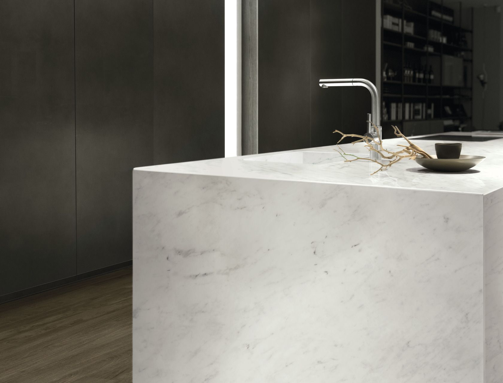 Marble Effect White Large Slabs Bianco Carrara
