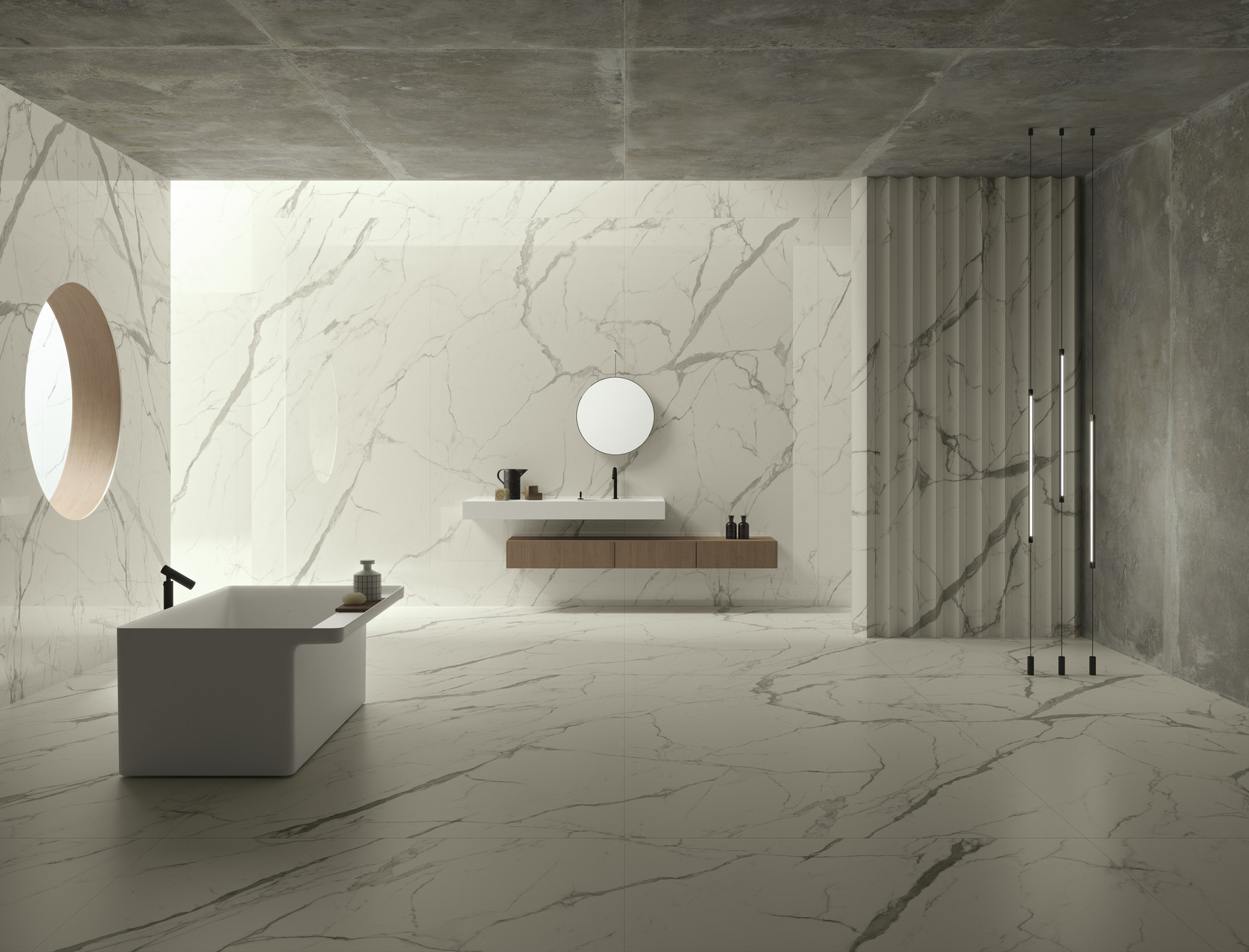 Bianco Statuario Ultra Marmi Marble Effect Floor And Wall Coverings