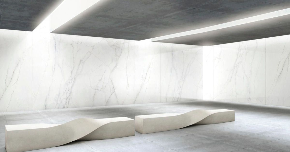 Calacatta Lincoln Ultra Marmi Big White Marble Effect Slabs