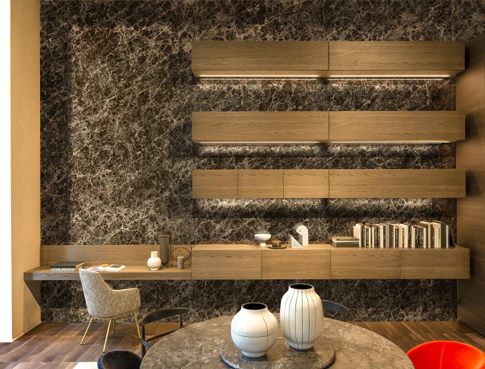 Dark Emperador Ultra Marmi Marble Effect Floor And Wall