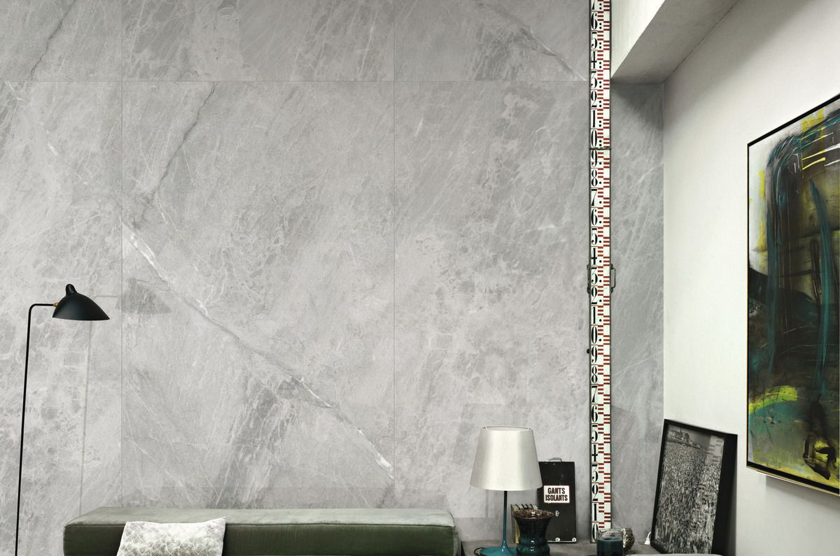 Gris De Savoie Ultra Marmi Grey Marble Effect Floor And
