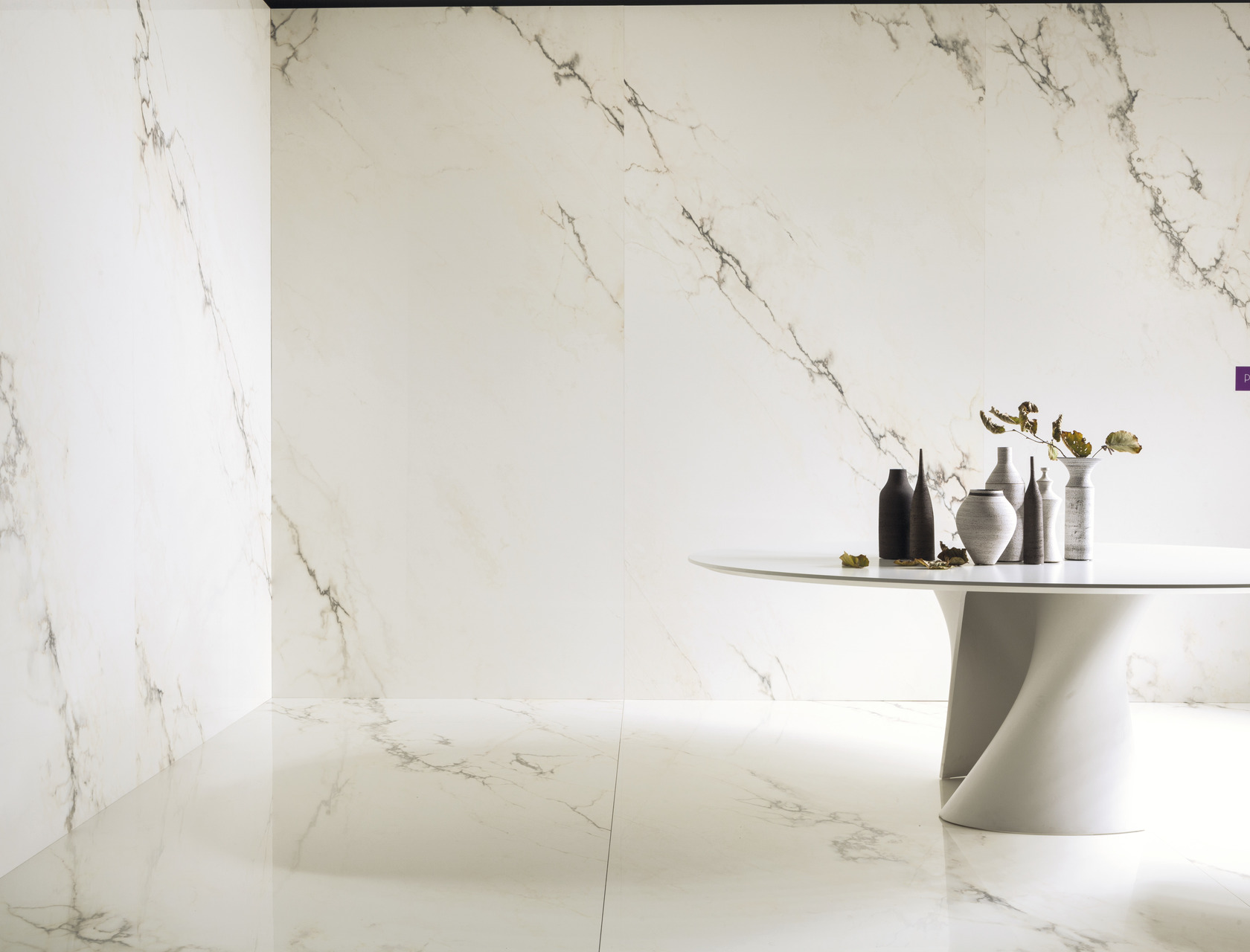Marble Effect White Large Slabs Paonazzetto S
