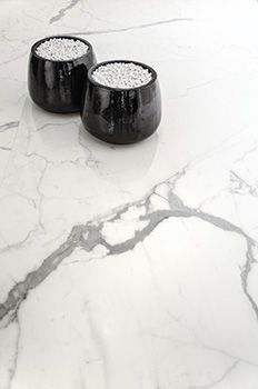 Marble Effect White Floors