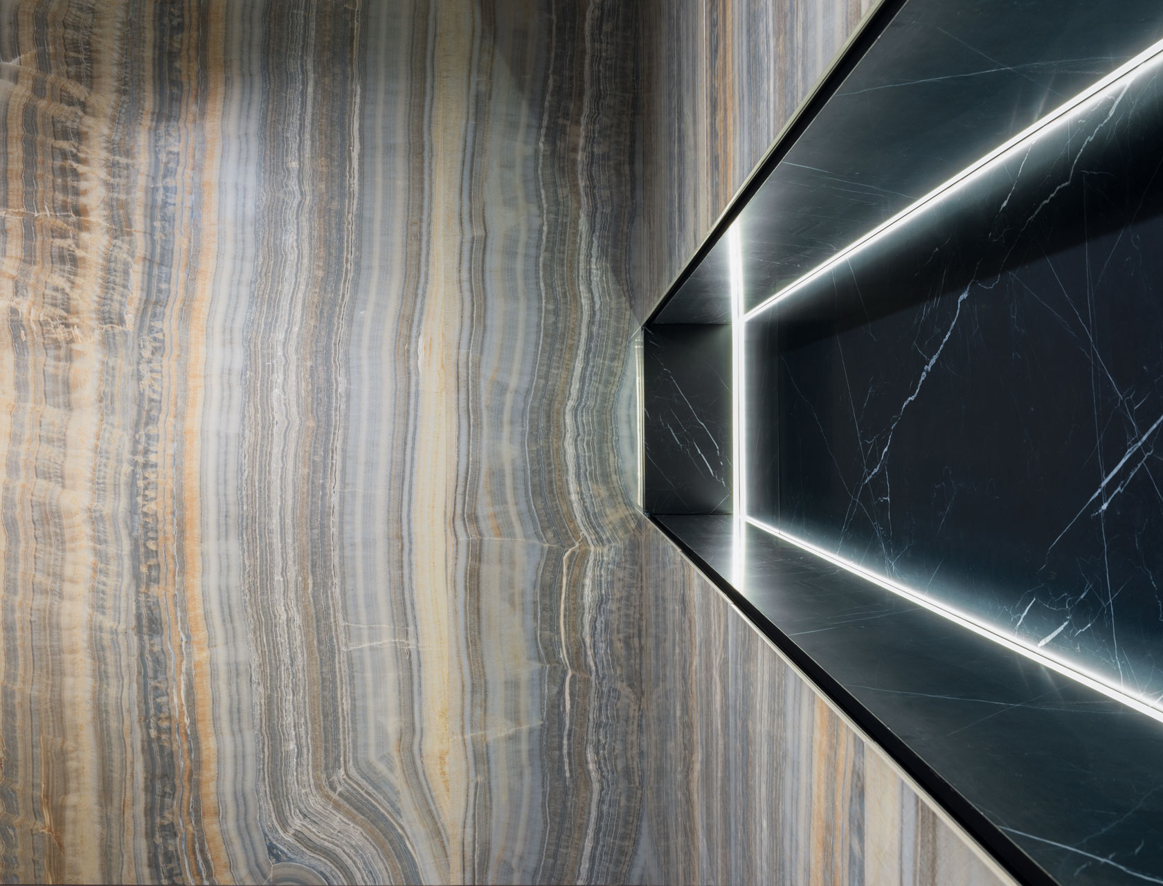 Marble Effect Grey Large Slabs Grey Onyx Vein Cut