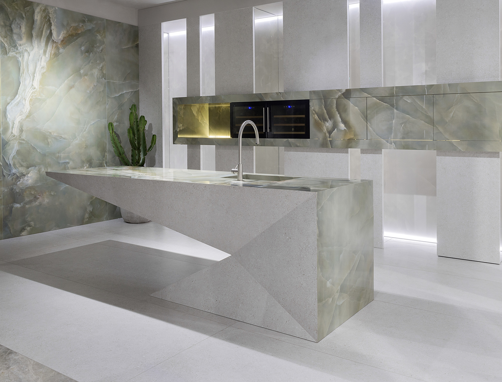 Marble Effect Large Slabs Onice Persia