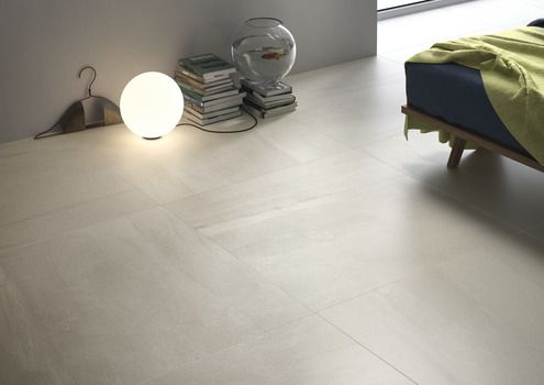 Stone Effect White Floors
