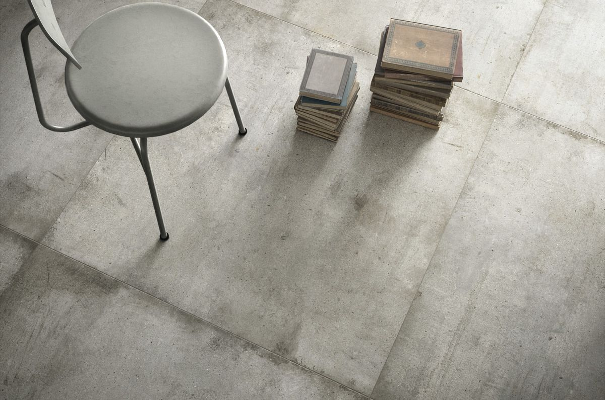 Light Grey Ultra Teknostone Grey Stone Effect Floor And