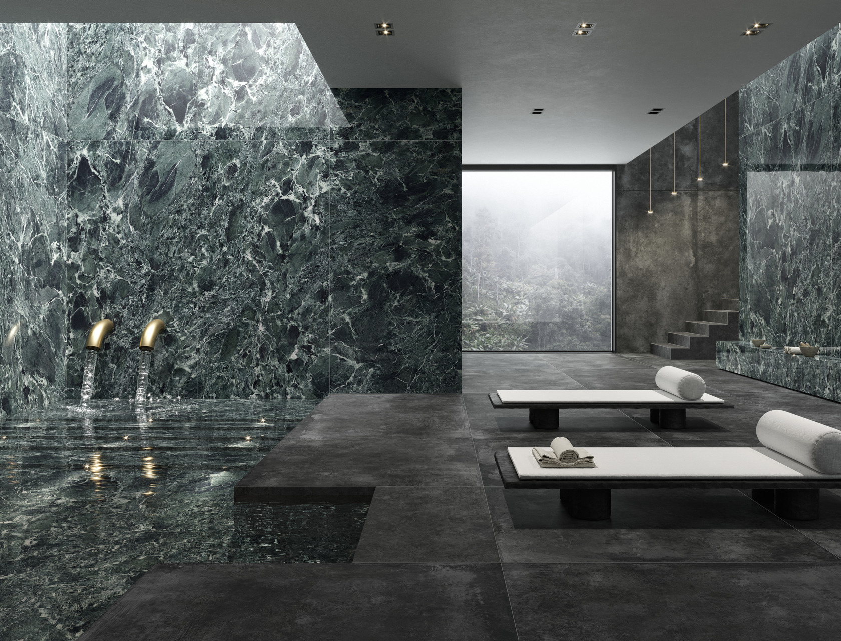 Ariostea porcelain stoneware Marbles, Stones and Woods: floor and wall tiles of unrivalled quality