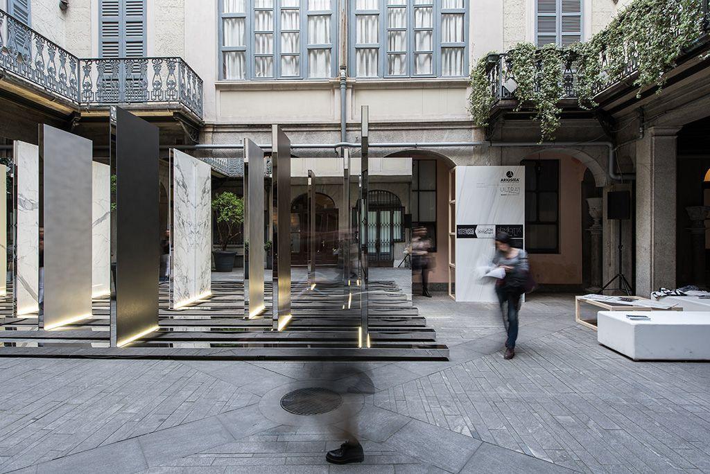 Ariostea temporary showroom milano design week ariostea news for High tech milano