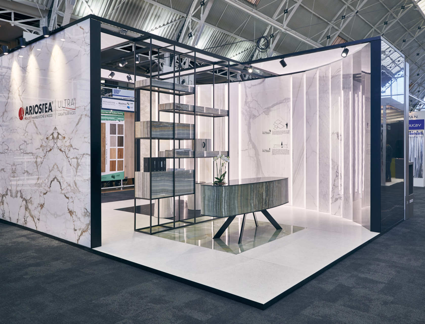 Surface design show trade fairs and events ariostea for International decor surfaces